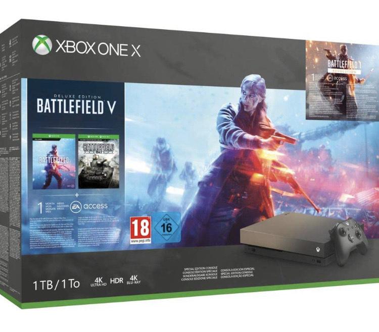 Xbox One X 1TB + Battlefield V (Amazon Reacondicionado)