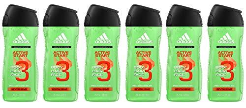 Adidas - Gel de ducha para hombre (Pack de 6 uds, 2 packs mínimo)