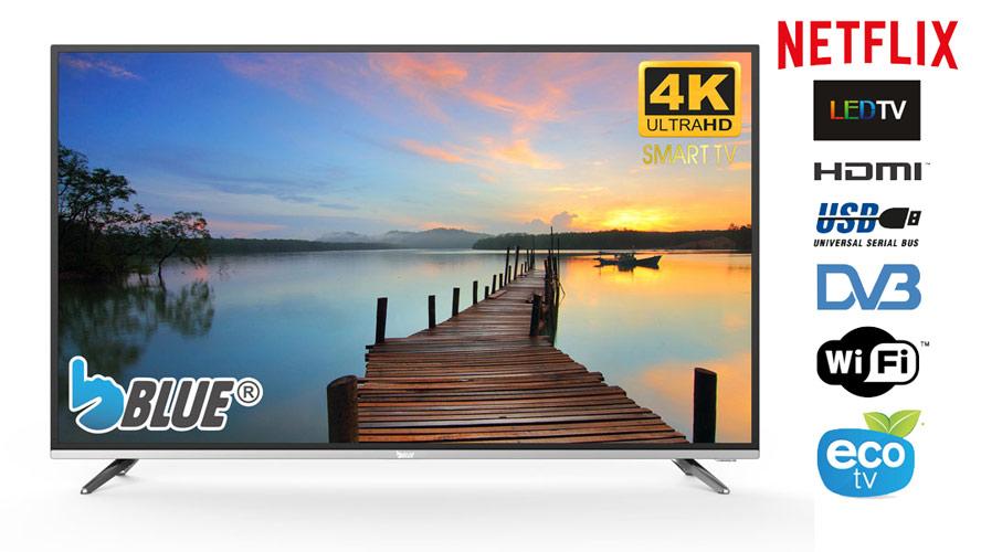 "TV LED Blue 43"" 4K Ultra HD Smart TV Wifi 3xHDMI 2xUSB Worten"