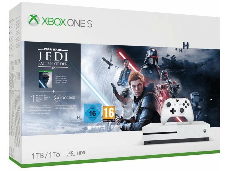 Xbox One S 1 TB + Star Wars + mando extra