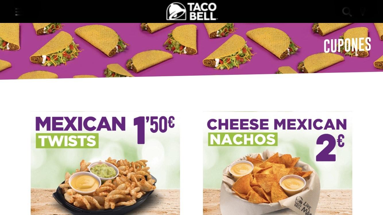 Taco Bell cupones descuentos válidos hasta el 9/02/2020