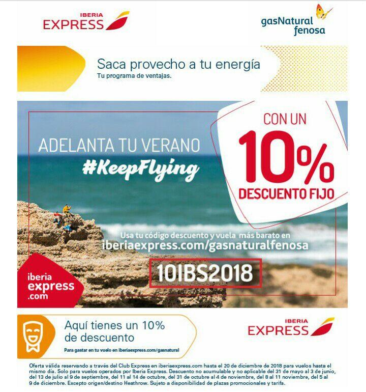 Descuento vuelos Iberia Express