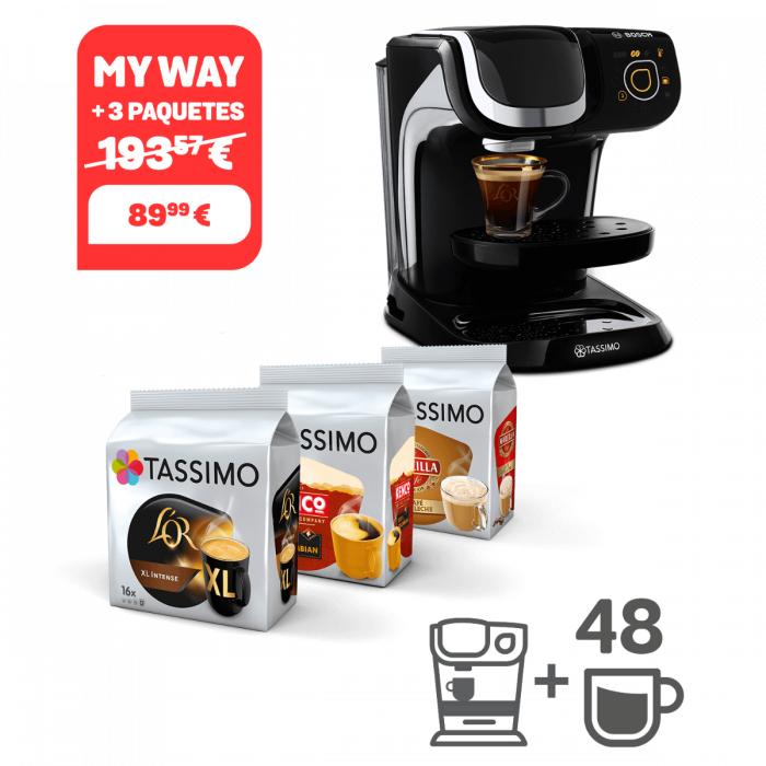Cafetera Tassimo My way mystical black + 48 cápsulas