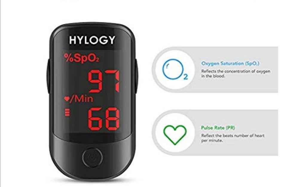 Pulsioximetro de Dedo Profesional saturacion oxigeno con pantalla OLED .