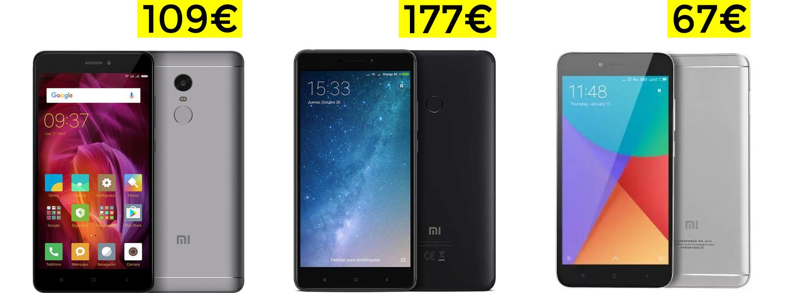 Smartphones Xiaomi desde España a preciazo (Ej: Redmi Note 4 Global a 109€, o 5A a 67€)