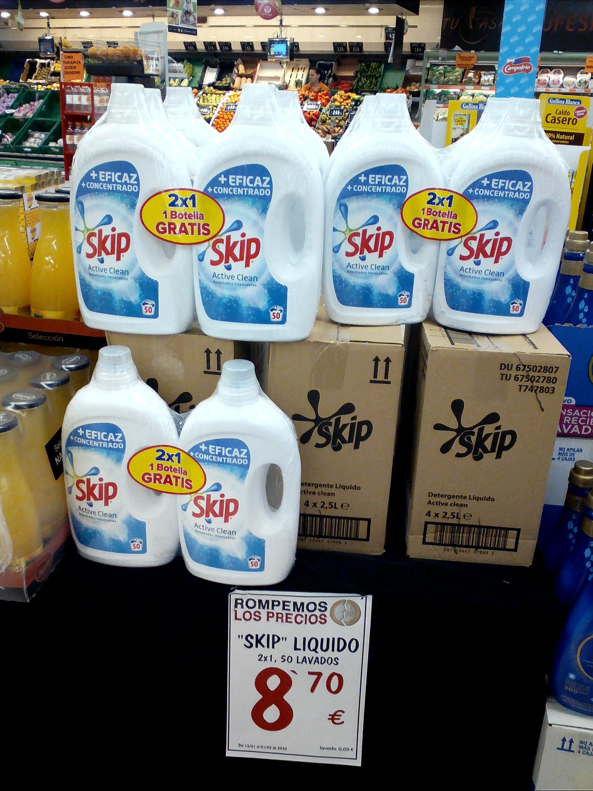 Detergente Skip líquido 100 lavados - Hiper Usera y Tucash