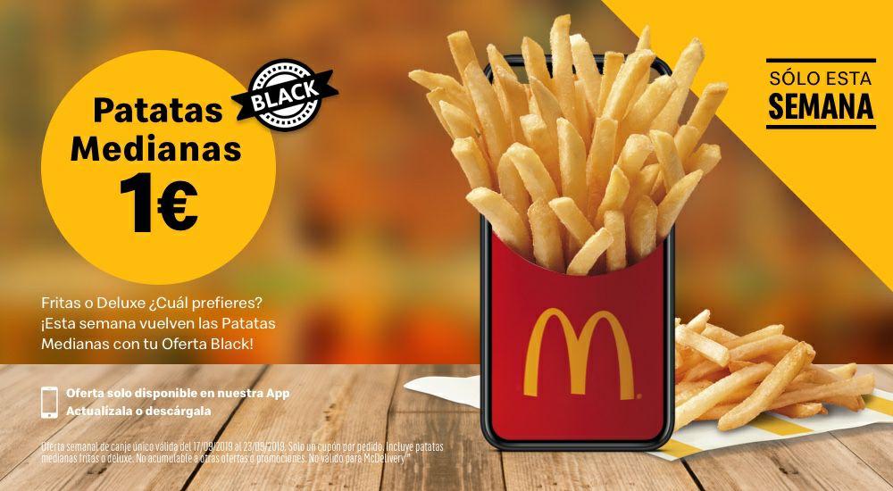 Patatas medianas en McDonald's 1€