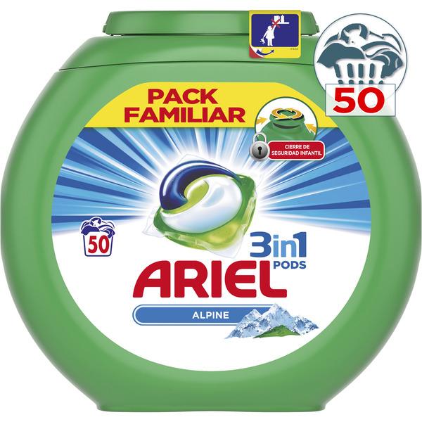 Ariel Pods 2x1 + 5€ descuento/u (Cuentas Seleccionadas)
