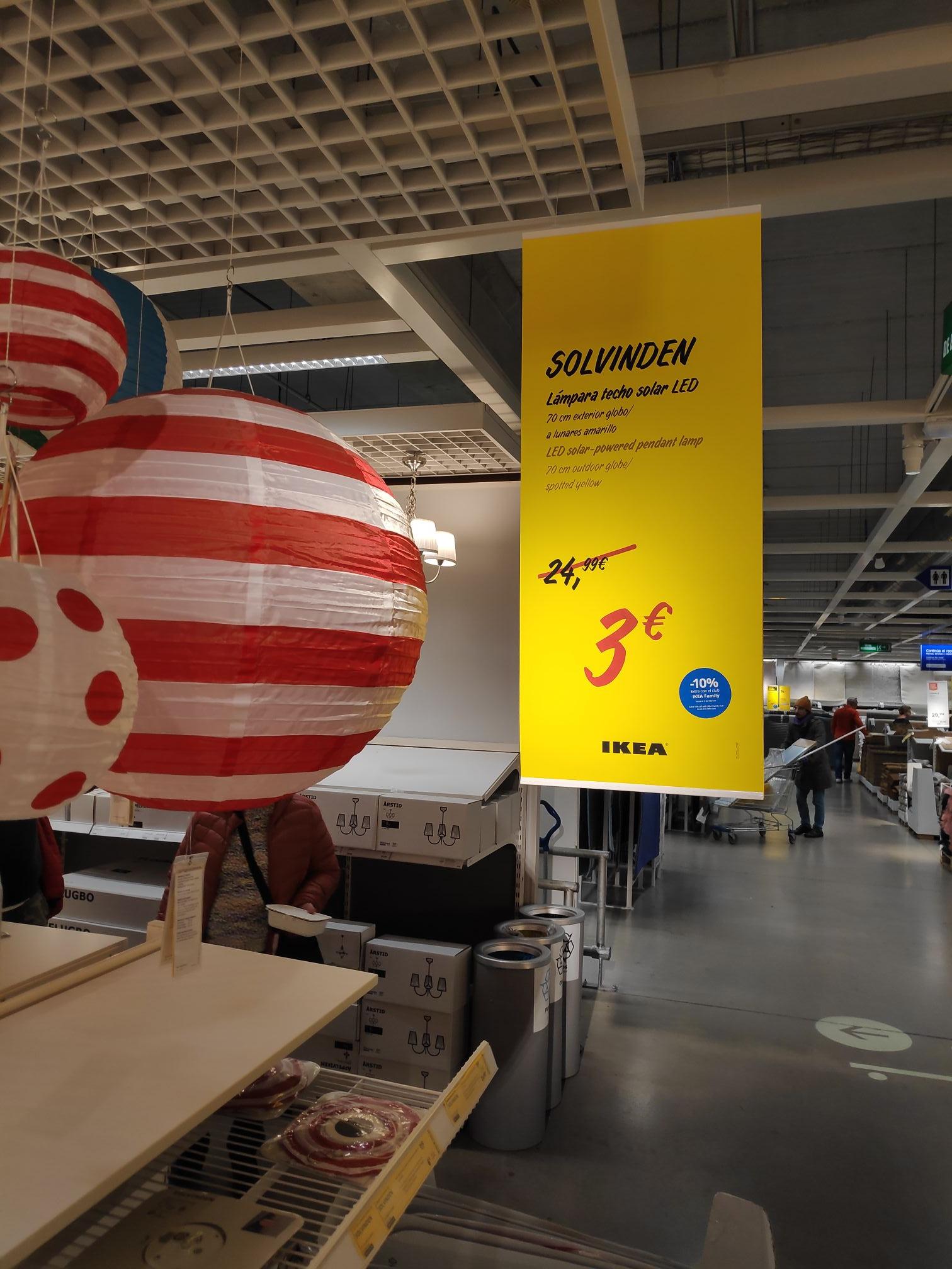 Lámpara solar Ikea Málaga