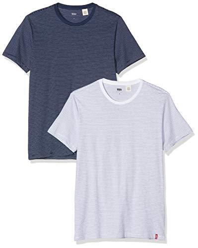 Levi's Slim 2pk Crewneck 1 Camiseta para Hombre