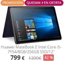 "Tablet Huawei MateBook E (12"" / Intel Core i5-7Y54 / 8GB / 256GB SSD)"