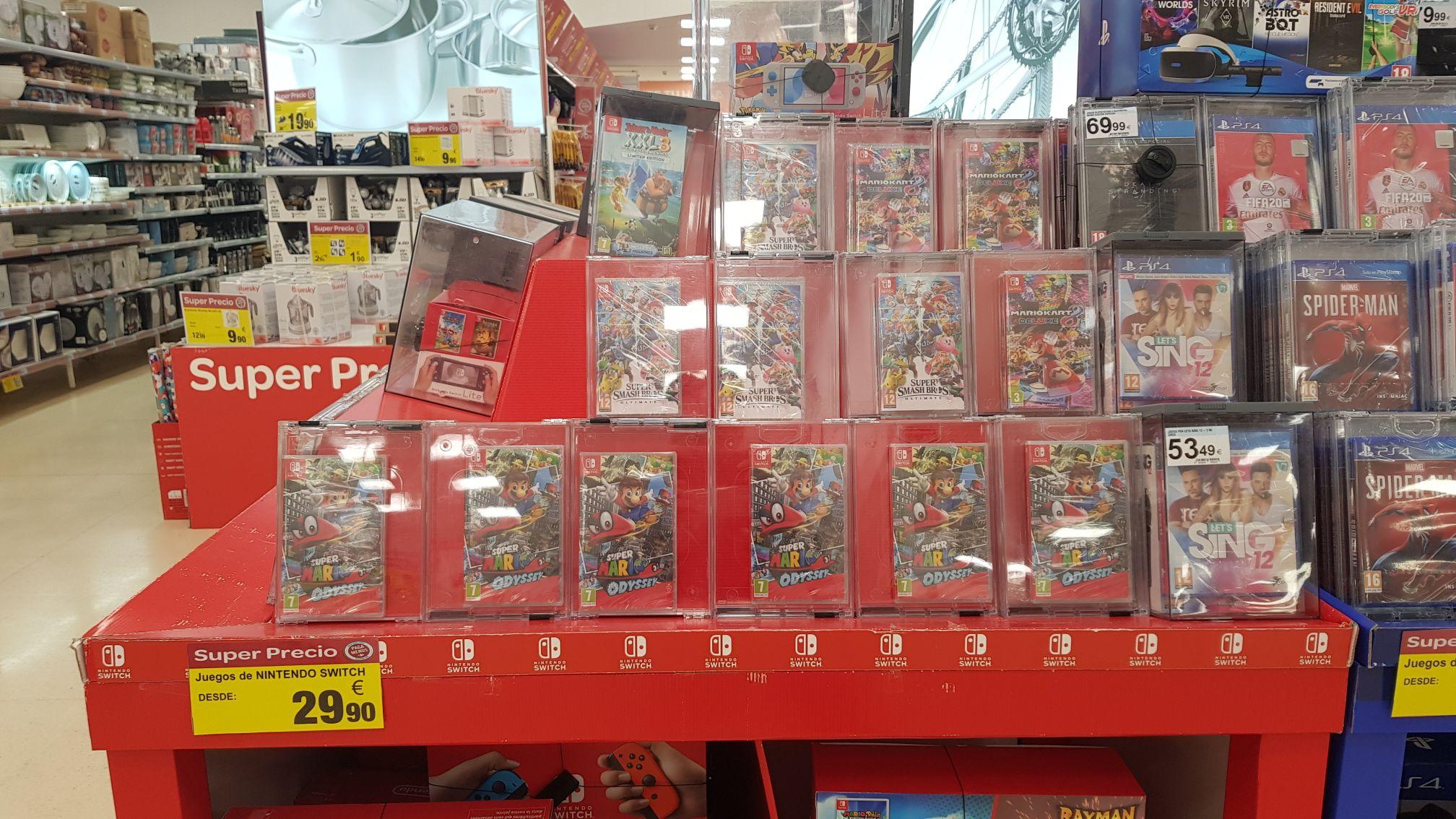 Juegos nintendo switch desde 29,90 en Carrefour palma de Mallorca