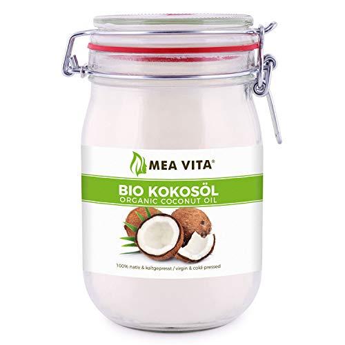 Aceite De Coco Orgánico Meavita, Virgen Y Prensado En Frío, 1 Paquete (1X 1000 Ml) En Un Vaso 1 Unidad 1000 ml