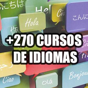 +270 Cursos de Idiomas (Inglés, Español)