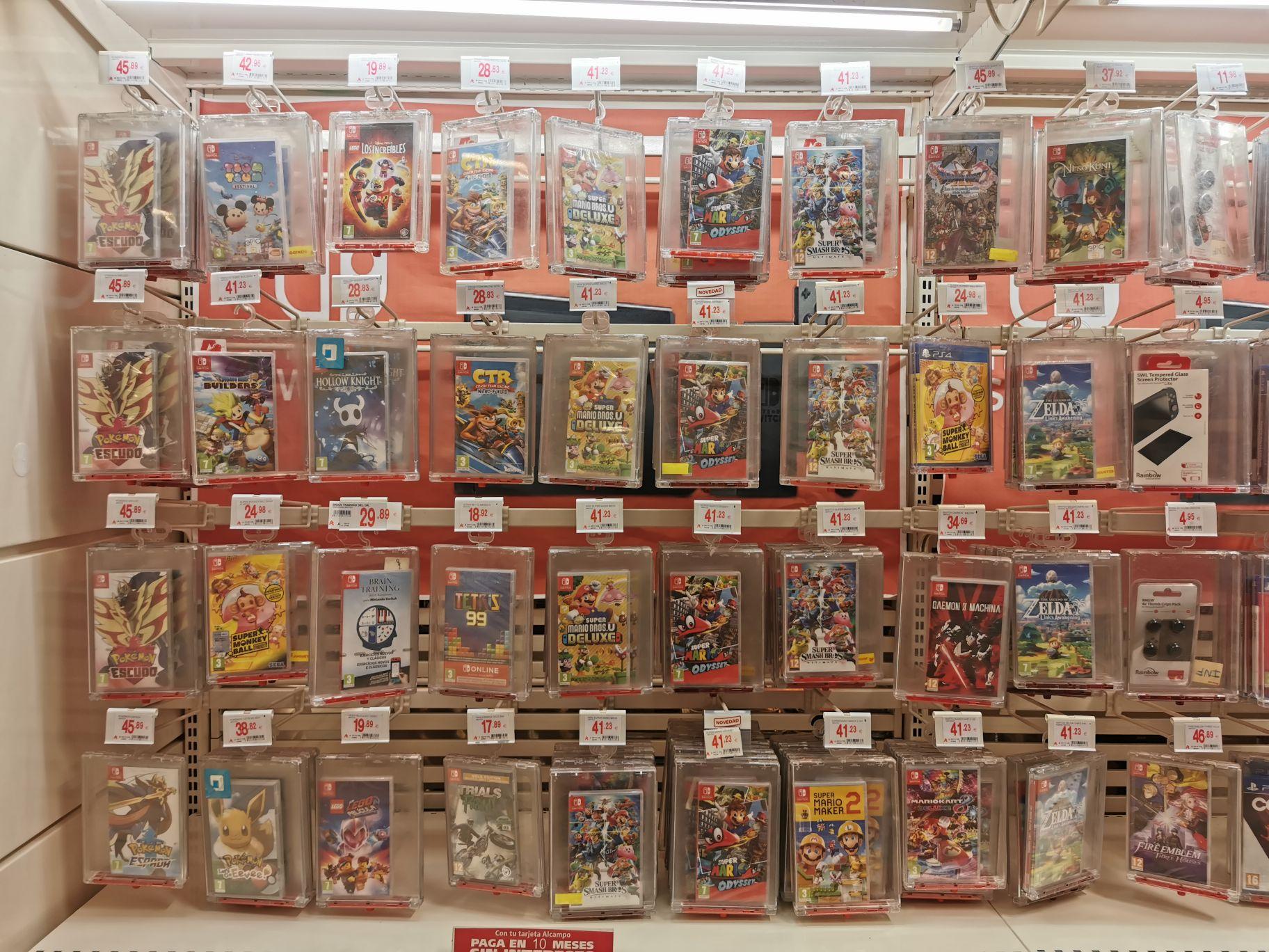 Juegos switch buen precio Alcampo utebo (Zaragoza)