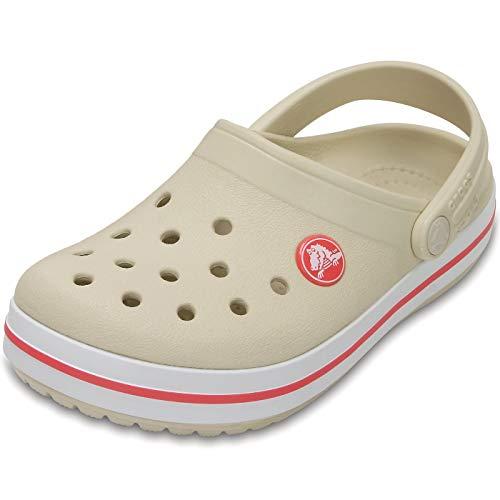 TALLA 25/26 COLOR BEIGE - Crocs Crocband Clog Kids, Zuecos Unisex Niños