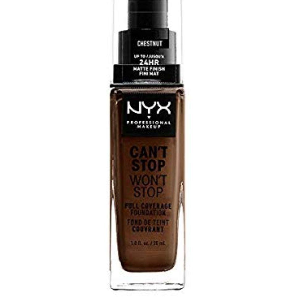 NYX Base de maquillaje Larga duración, Waterproof, Fórmula vegana, Acabado mate, Tono: Chestnut
