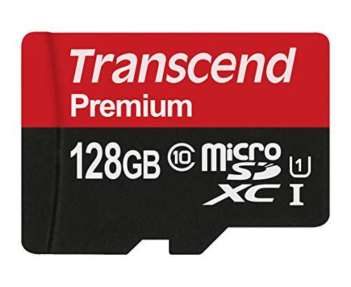 Transcend 128 GB Tarjeta MicroSd con adaptador