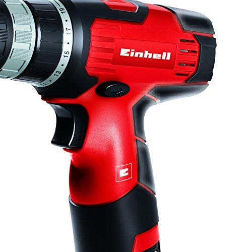 Einhell TH-CD 12 Li - Taladro sin cable, 1 velocidad, batería de 1.3 Ah, 24 Nm,