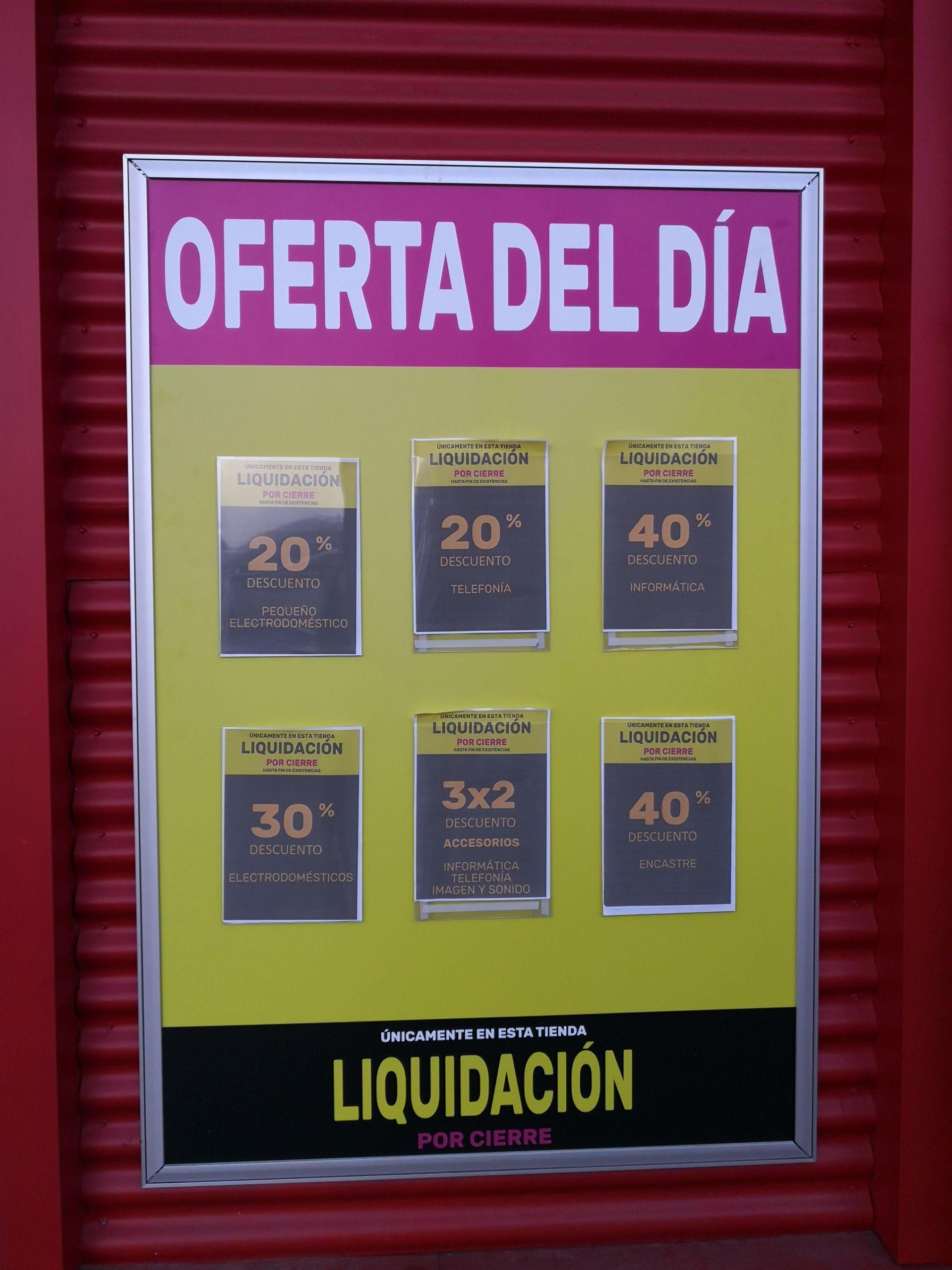 Liquidación por cierre Worten Leganés