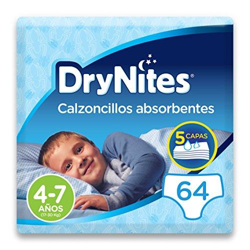 DryNites - Calzoncillos absorbentes para niño - 4-7 años (64 unidades) Precio al tramitar el pedido