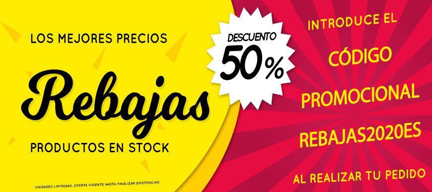 DESCUENTO DEL 50% EN PRODUCTOS EN STOCK