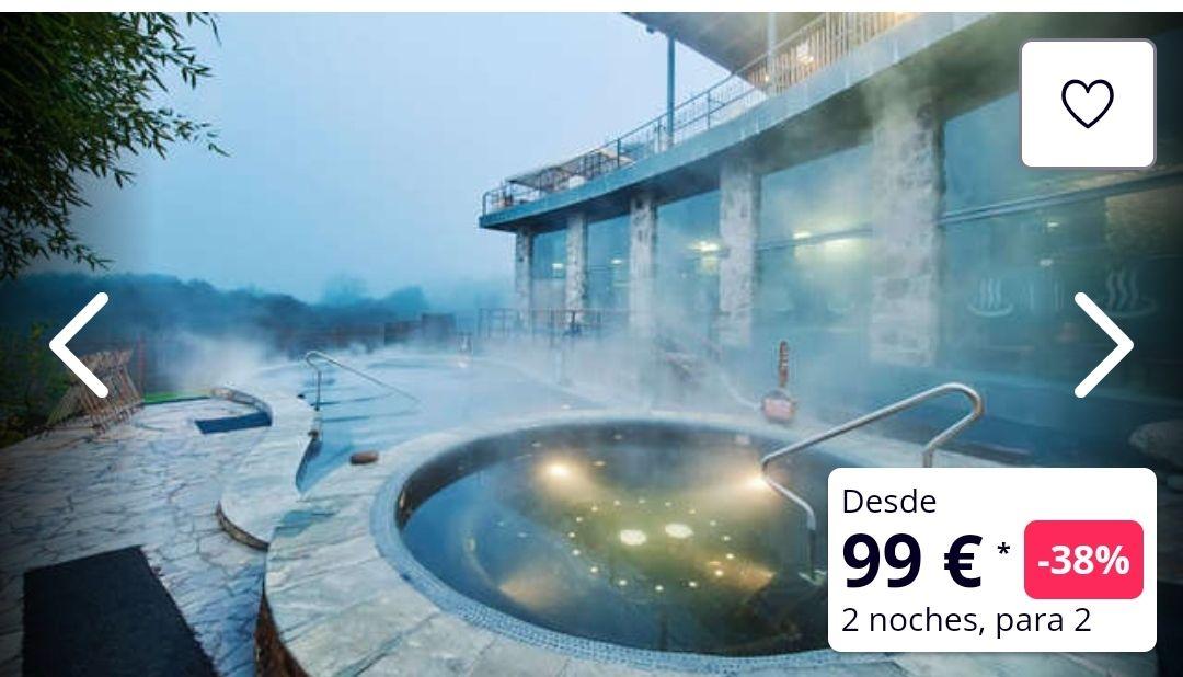 San Valentín en Galicia 3 días hotel 3*+ desayunos+ Acceso termas de Outariz