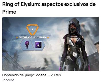 Ring of Elysium: Aspectos exclusivos de Prime con Twitch