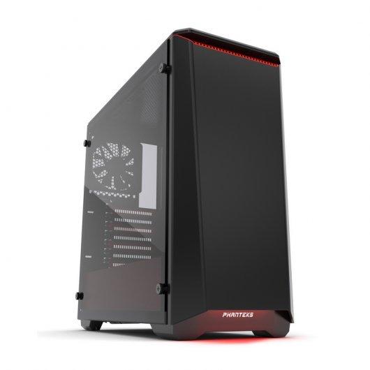 Torre Phanteks Eclipse P400S Cristal Templado USB 3.0 Negra/Roja (Reacondicionada)