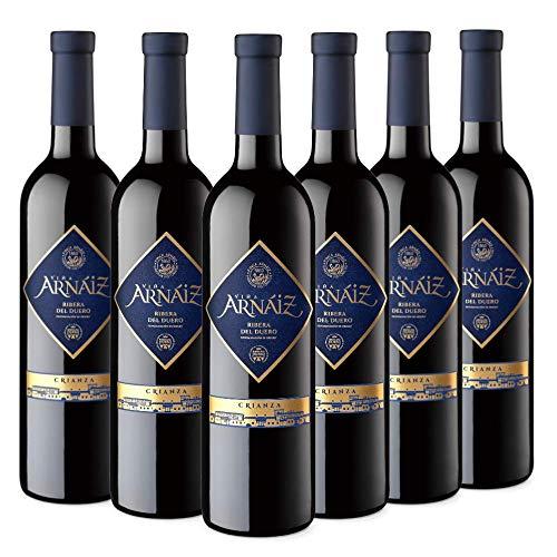 6 botellas Viña Arnáiz Crianza Vino Tinto D.O Ribera del Duero, Crianza de 14 Meses.