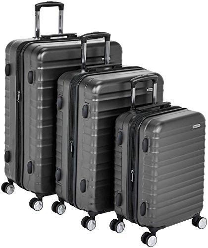 Min historico. AmazonBasic Juego tres maletas rígidas.TSA