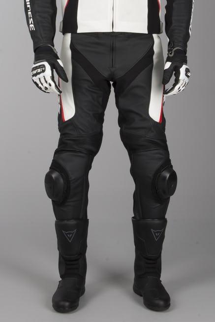 Pantalon Dainese Delta 3 Negro-Blanco-Rojo