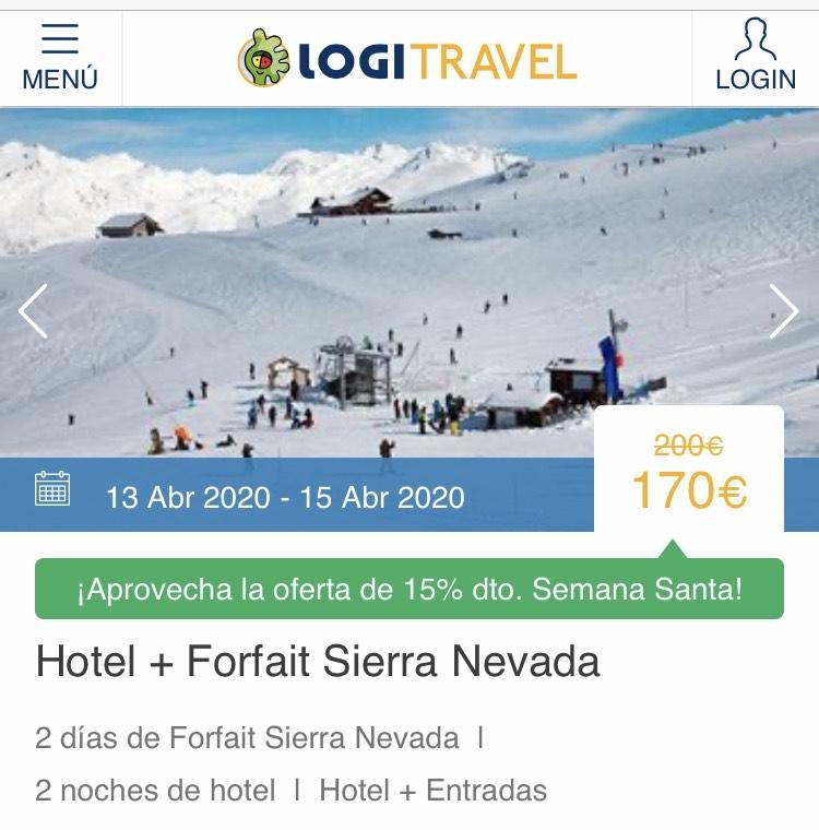 Semana Santa: 2 Noches de Hotel + Forfait 2 días en Sierra Nevada