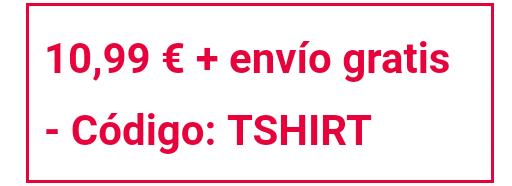Camisetas en oferta + envío gratis en Zavvi (30 modelos)