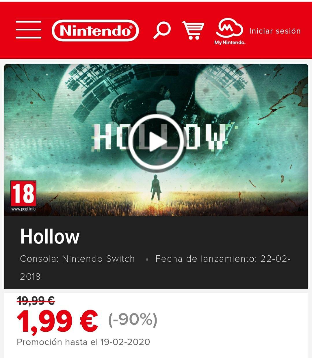 Juego Hollow Nintendo Switch