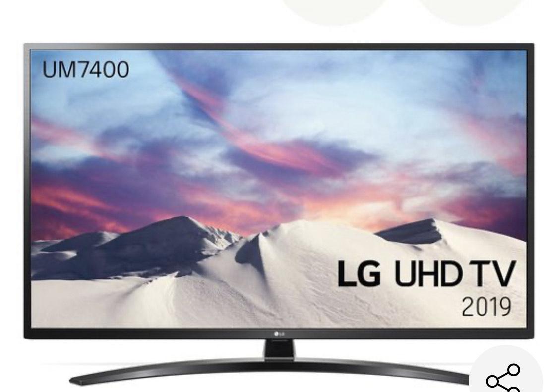 """Televisor 55UM7450PLA LG 4K Smart TV Led 55"""" de color negro"""