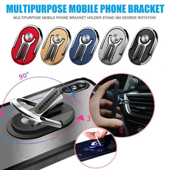 Soporte multifunción de teléfono para coche. (Color: rojo)