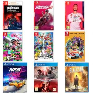 Recopilación Juegos Switch y PS4 a 20€ (AlCampo)