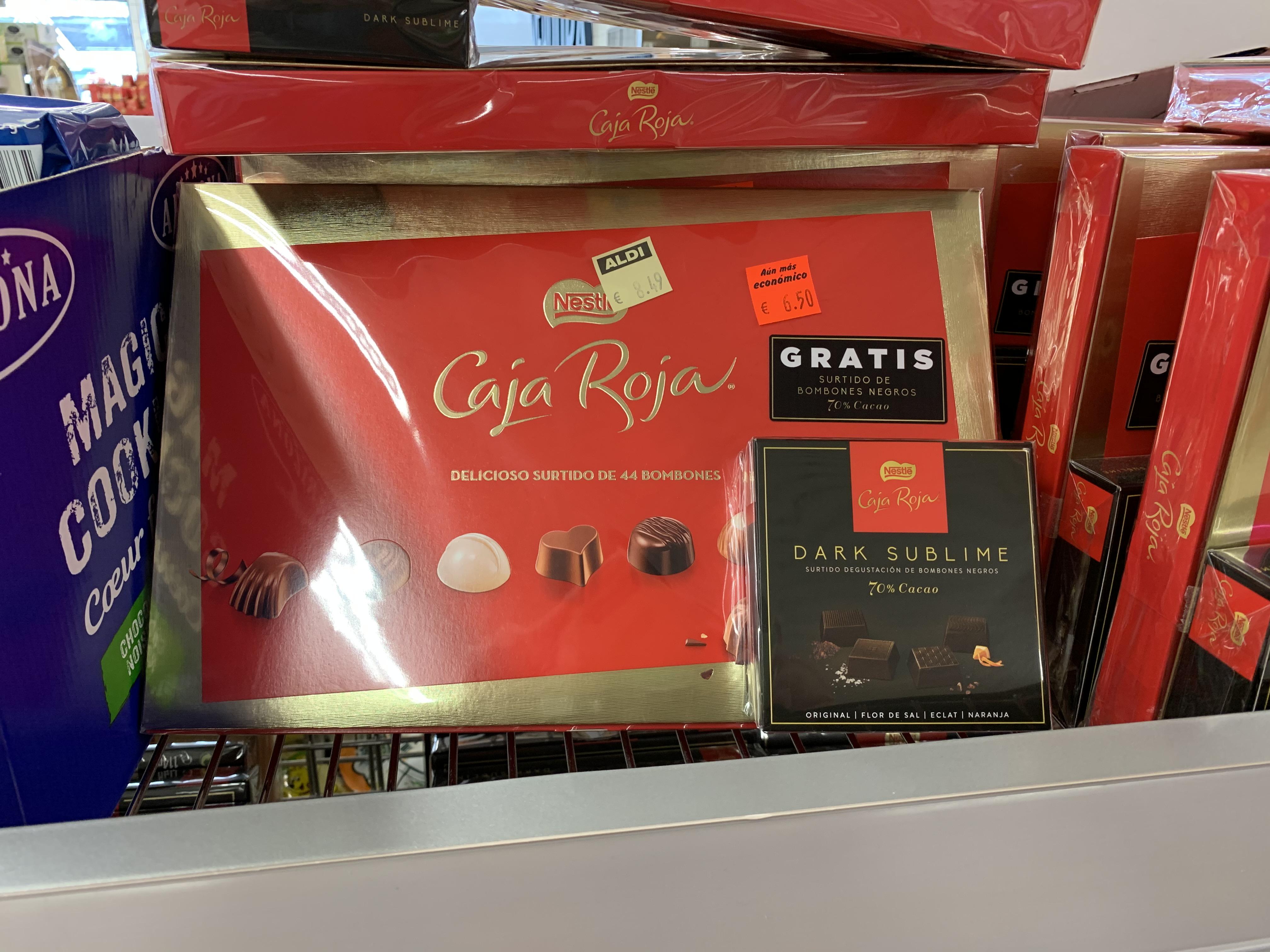 Nestlé caja roja 400g (44 uds) + surtido Degustación Dark sublime 70% cacao