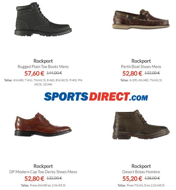 Oferta Flash 60% en calzado Rockport
