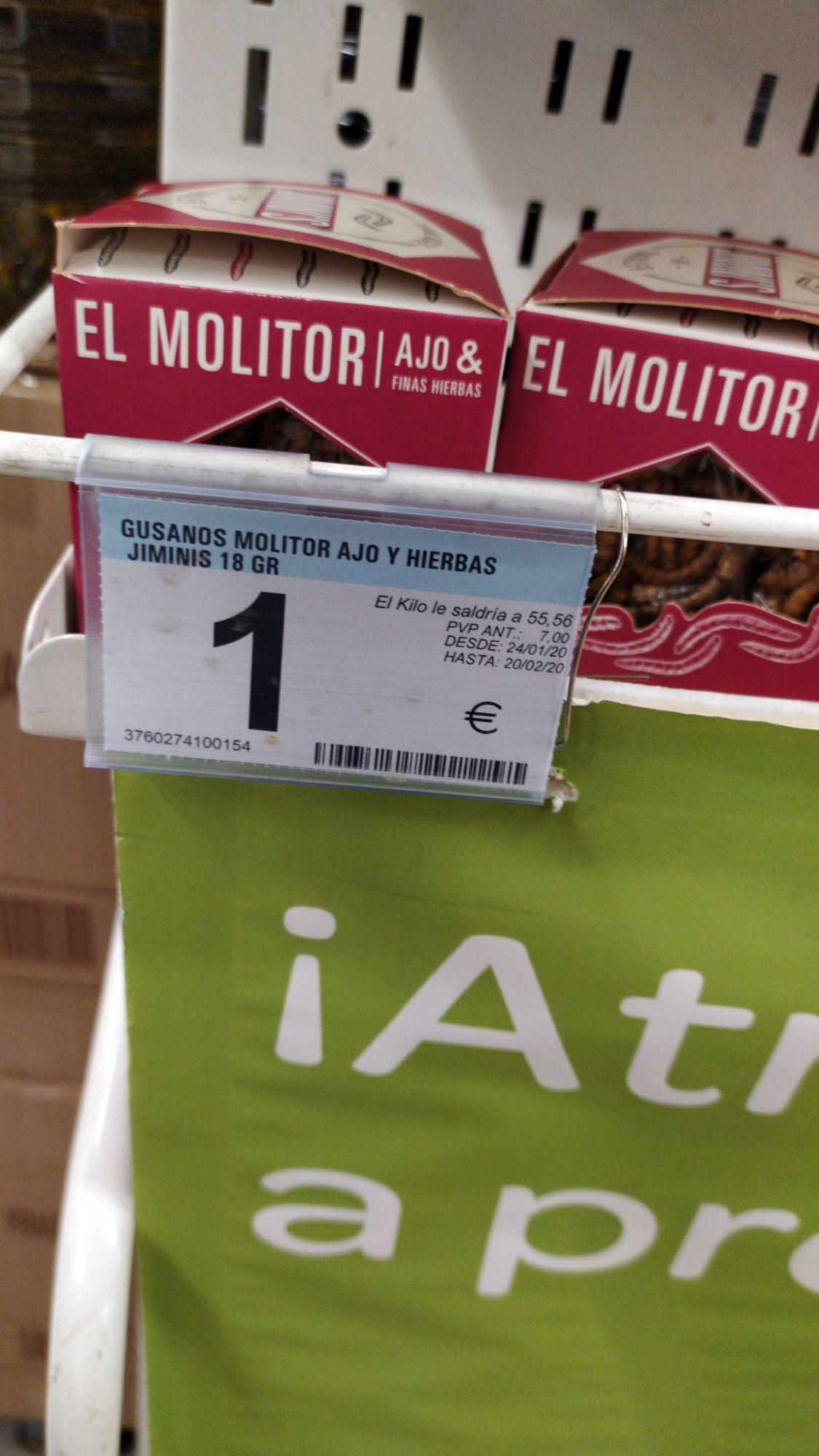 Insectos a 1€ Carrefour ANDUJAR - JAEN (fecha de caducidad próxima)