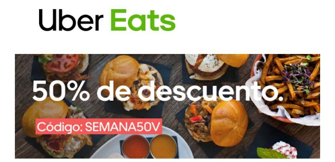 50% de descuento en Uber Eats (Ciudades seleccionadas)
