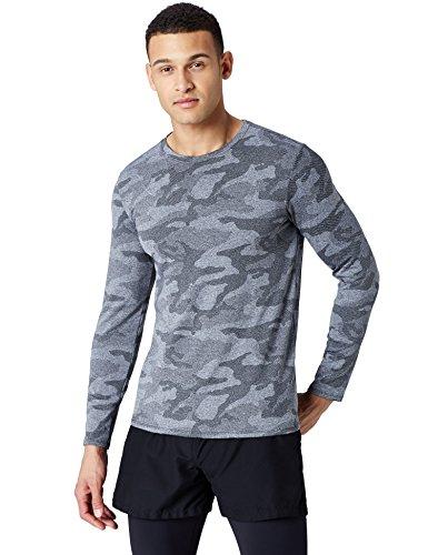 Marca Amazon - find. Camiseta Deporte Camo Hombre 2 colores.