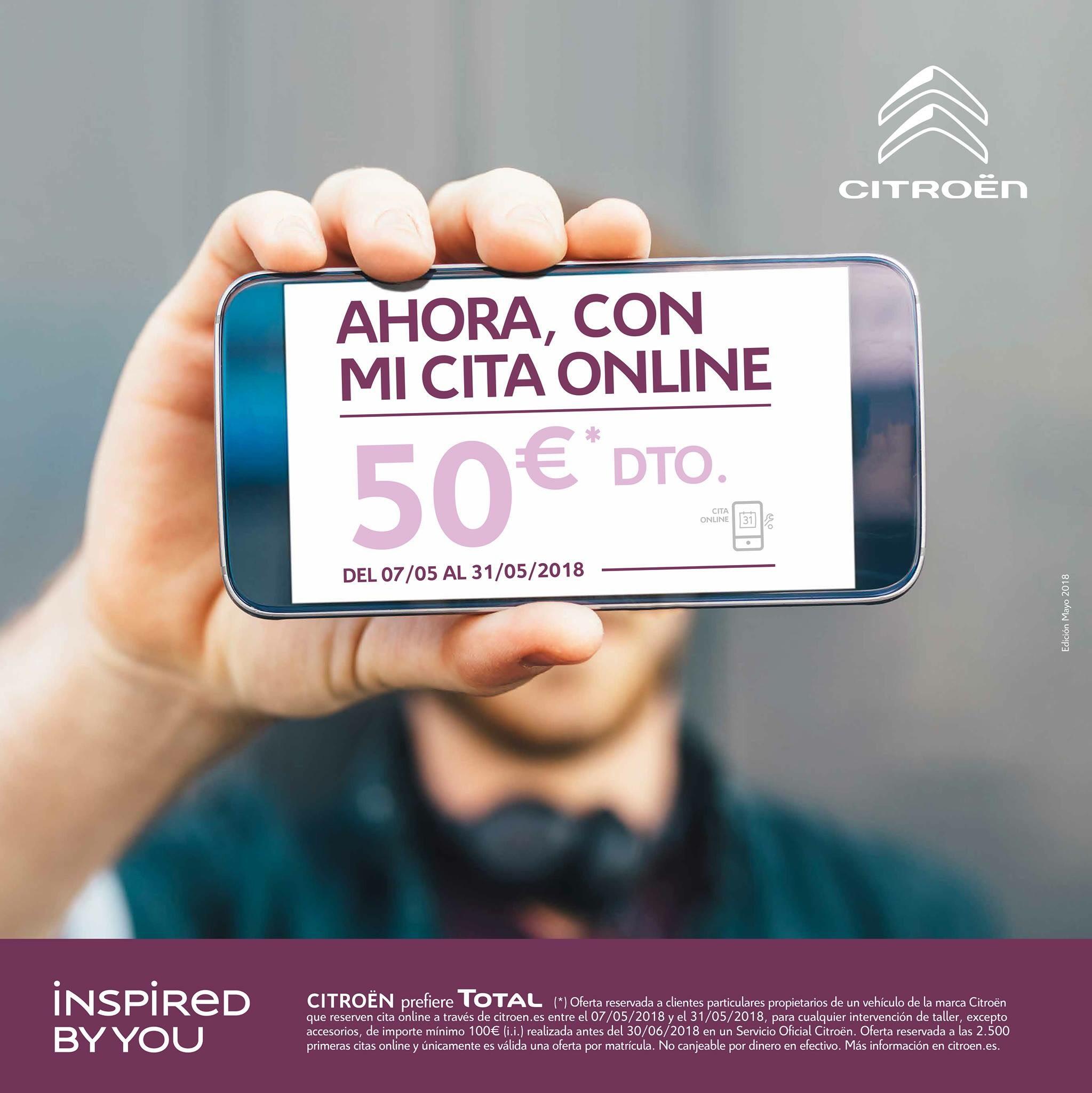 Descuento de 50€ en  mantenimiento Critoën (con cita online)