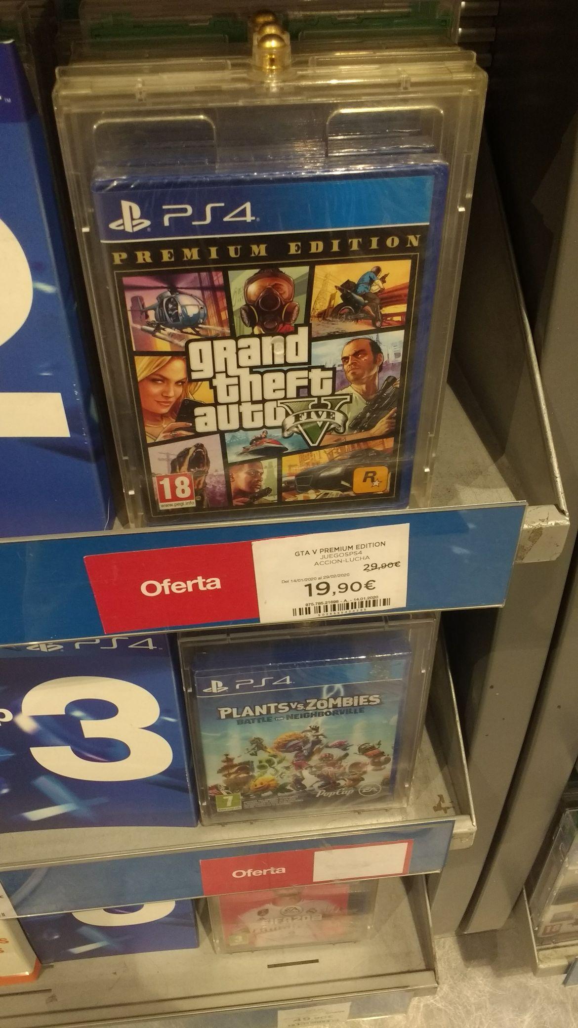 GTA V PlayStation 4 (Edición Premium)- ElCorteIngles