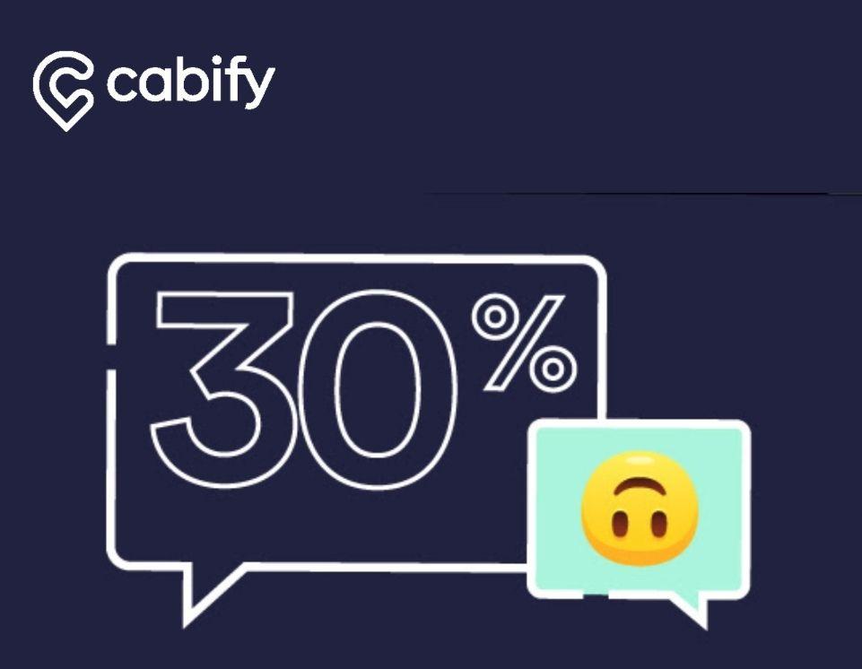 30% de descuento Cabify