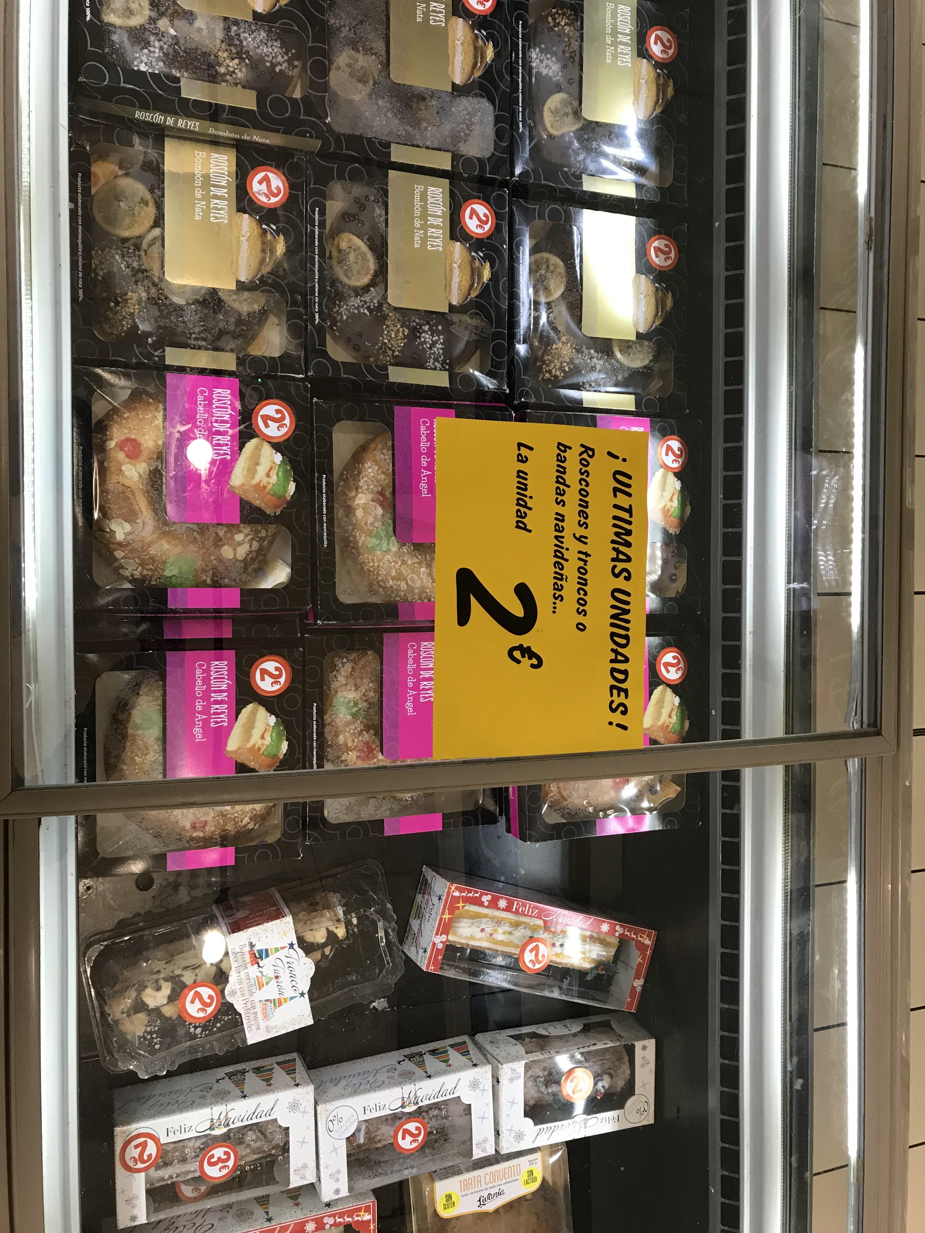 Liquidación roscones y troncos navideños Carrefour Mallorca