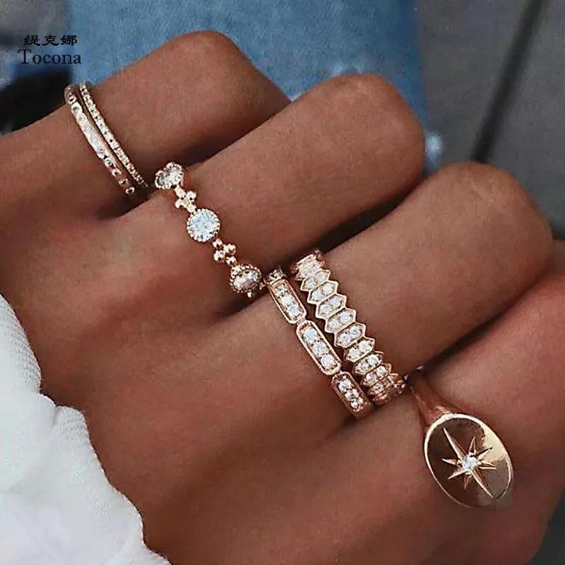 Set de 6 anillos