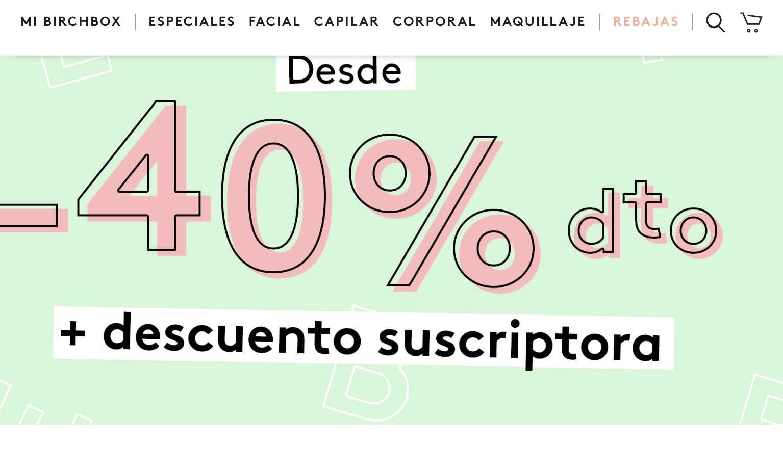 Rebajas BIRCHBOX - Productos de cosmética desde un 40% de dcto.
