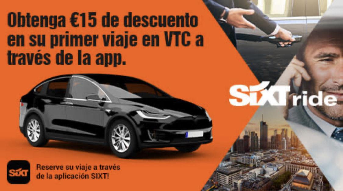 15€ de regalo en VTC